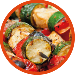 Halloumi and Vegetable Kebab